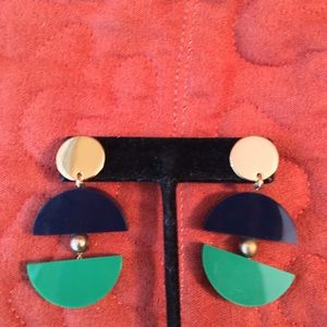 NWOT AUTHENTIC KATE SPADE NAVY/GREEN EARRINGS